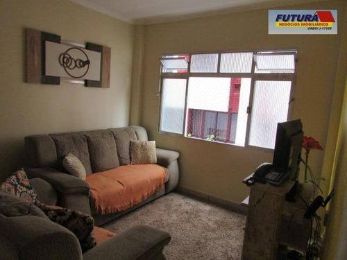 Apartamento Com 2 Dormitórios À Venda, 56 M² Por R$ 300.000,00 - Gonzaguinha - São Vicente/sp - Ap1834