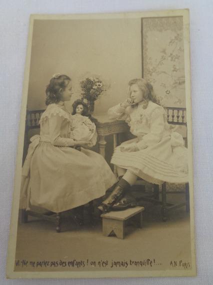 Cartão Postal Temático Brinquedo Antigo Boneca 01#