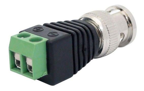 Kit 100 Plug Conector P4 Bnc Borne Kre P/ Cftv Camera Segura