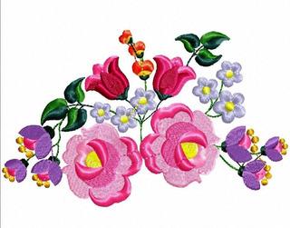 Matriz Bordado Flores Divinas Para Toalha