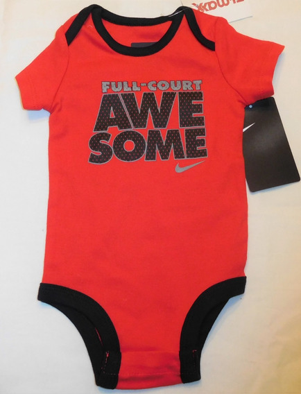 Nike Bebe Body 3-6 Meses Full Court Awesome Original Novo