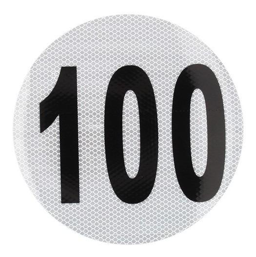 Calco Velocidad Maxima 100 Reflectivo Taiwan 3209/6