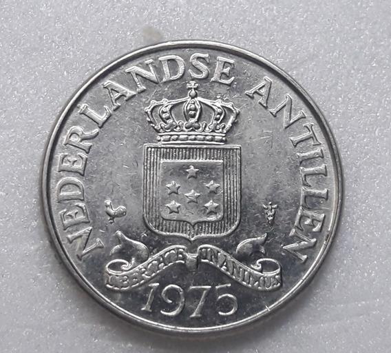 * Antillas Holandesas. 25 Centavos. Año 1975.