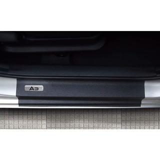 Kit 4 Apliques De Soleira Resinado + Black Over Audi A3