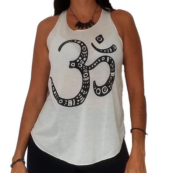 Camiseta Blusinha Feminina Regatinha Om Yoga Índia Hindu Zen