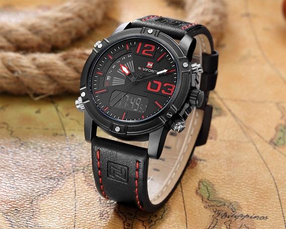Relógio Militar Multifunções Naviforce Nf9095