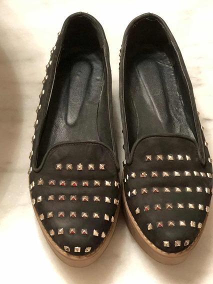 Viamo Zapatos Con Plataforma, De Cuero Con Tachas