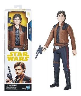 Star Wars Han Solo Muñeco Original Hasbro 30cm