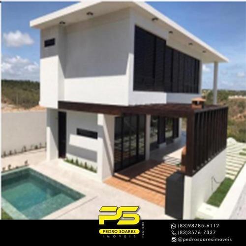 Casa Com 3 Dormitórios À Venda Por R$ 560.000 - Cidade Balneária Novo Mundo I - Conde/pb - Ca0703
