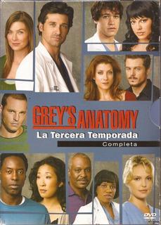 Greys Anatomy Tercera Temporada Serie Dvd Tv Original Nuevo