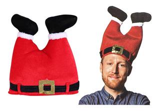 Gorra De Papá Noel Navidad Pantalones Al Revés Con Botas