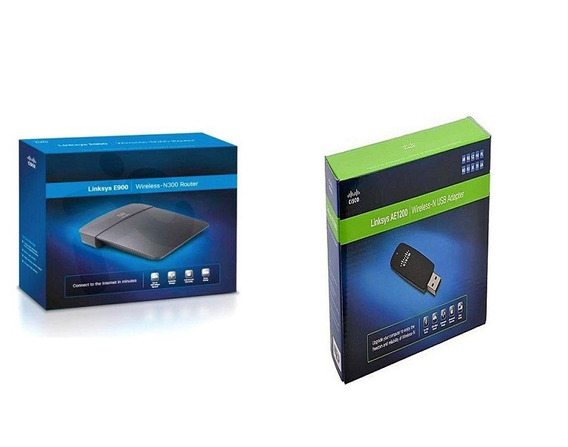 Combo Linksys Router Wifi E900 Y Placa Usb Wifi Ae1200 Gtia