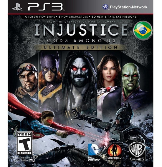 Injustice Gods Among Us Ultimate Edition Dublado + Todas Dlcs - Jogos Ps3 Playstation 3