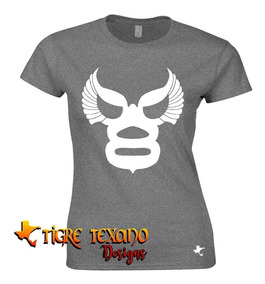 Playera Lucha Libre Angel Blanco By Tigre Texano Designs