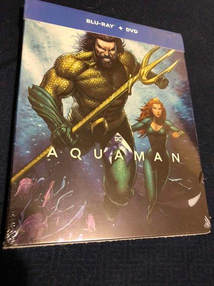 Aquaman Dc Comics Bluray/dvd Steelbook Jason Momoa Nueva
