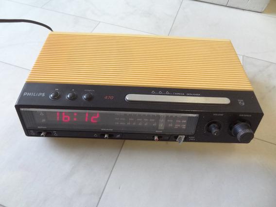 Radio Relogio Despertador Philips 470 80s