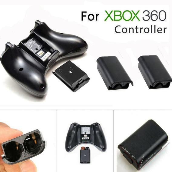 Kit 2x Suporte Tampa Porta Pilha Manete Controle Xbox 360