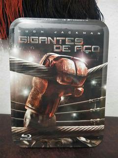 Blu-ray Gigantes De Aço - Edição Colecionador - Lata Estampa