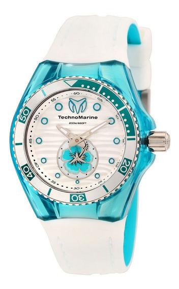 Relógio Feminino Technomarine 113021 Pulseira De Silicone