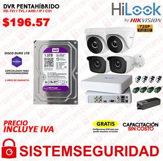 Kit 4 6 8 16 Camaras Seguridad Cctv Hd 720p Hilook Hikvision