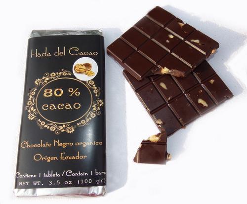 Imagen 1 de 7 de Pack X 10 Chocolate 80% Cacao Stevia Diet C Frutos Vs X 1 Kg