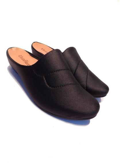 Sapato Mule Elastano Usaflex - Ref Ac0908