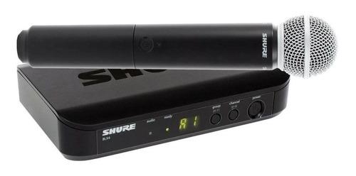 Micrófono inalámbrico Shure BLX Series BLX24/SM58 dinámico cardioide negro