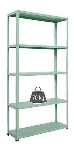 Estante De Metal Verde Menta 175x90x30cm Diseño Organizador