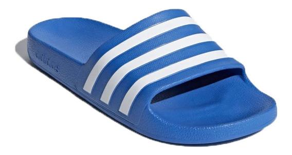 Ojota Chinela adidas Adilette Aqua Original Azu/bco