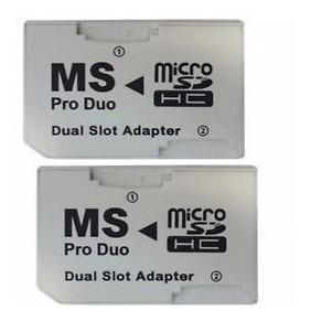 2x Adapta Doble Micro Sd Pro Duo Psp Memory Stick