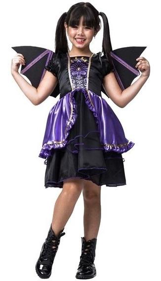 Roupa De Halloween Infantil Morcego Vestido Pronta Entrega