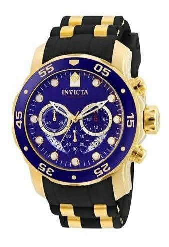 Relógio Invicta Masculino Pro Diver 6983 Banhado A Ouro 18k