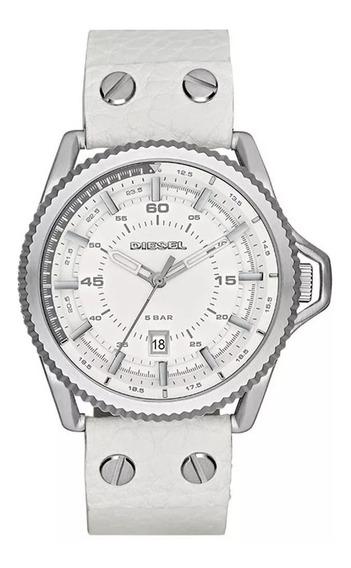 Relógio Diesel Branco Rollcage Dz1755/0bn