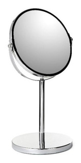 Espejo Baño Lujo De Aumento Tatay Con Base 17cm Acero Inox