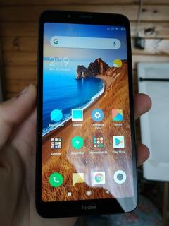 Xiaomi Redmi 7a Con Funda Y Vidrio Templado