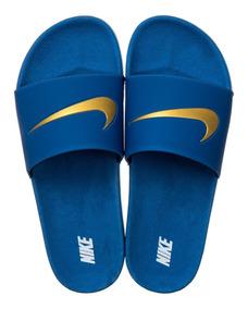 Chinelo Slide Benassi Swoosh Blue