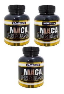 Maca Peruana Kit 3 Frascos Total 360caps Nathus