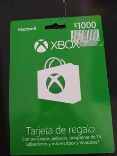 Tarjeta Xbox De $1000 Pesos Mexicanos (envío Al Instante)