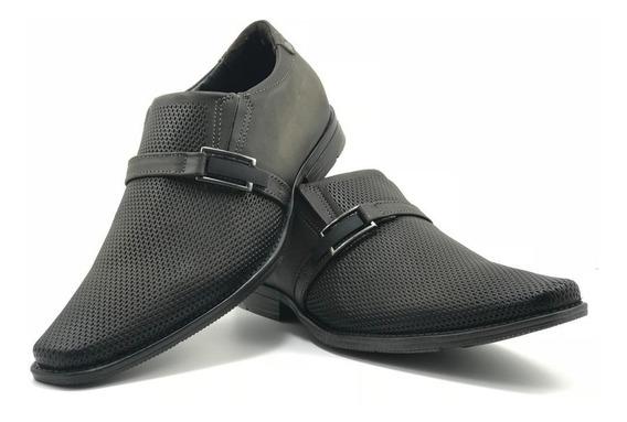 Sapato Masculino Couro Pegada Washed Cravo