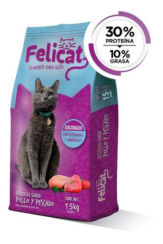 Alimento Para Gato Felicat 15 Kg Sesajal 30% Proteina