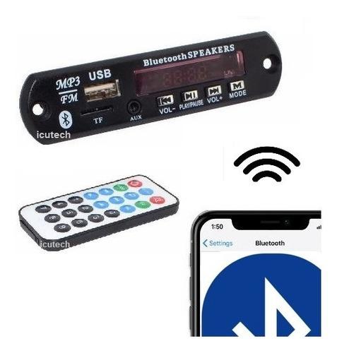 Modulo Receptor De Audio Bluetooth Fm Mp3 Sd Card + Remoto