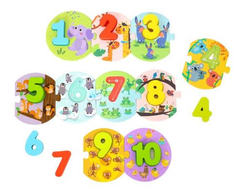 Imagen 1 de 4 de Puzzle Numerico Escritura