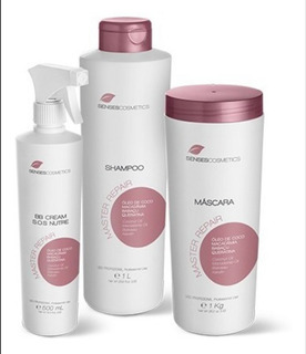 Kit Master Repair Senses Shampoo, Máscara, E Sos