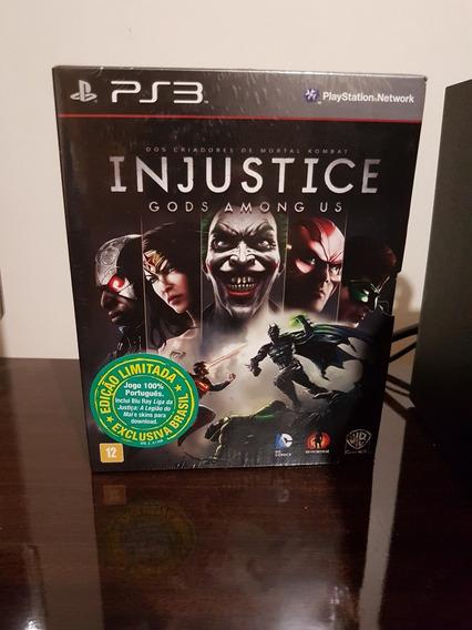 Injustice Gods Among Us Edição Limitada Com Filme Ps3 Lacrad