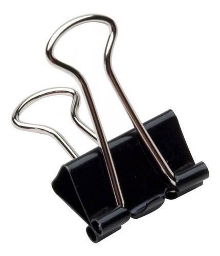 Prendedor De Papel Binder Clip 32mm Preto 24 Unidades Brw