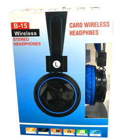Fone Bluetooth Wireless Headphone Stereo Radio Fm Usb B-15