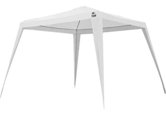 Tenda Gazebo Branca Em Polietileno 3x3 M Desmontável 74247