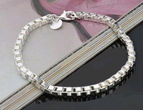 Pulseira Bracelete 4mm Prata 925 Top De Linha Hip Hop
