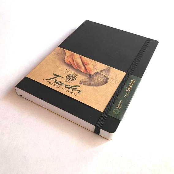 Sketchbook Tipo Moleskine 21 X 14 Cm - Libro De Dibujo