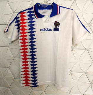 França 1994 P, A Mesma Camisa De Jogo, Bom Estado, adidas, Original E Ofícial